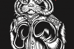 Every saturday punches t-shirt design giovanni tamponi illustration