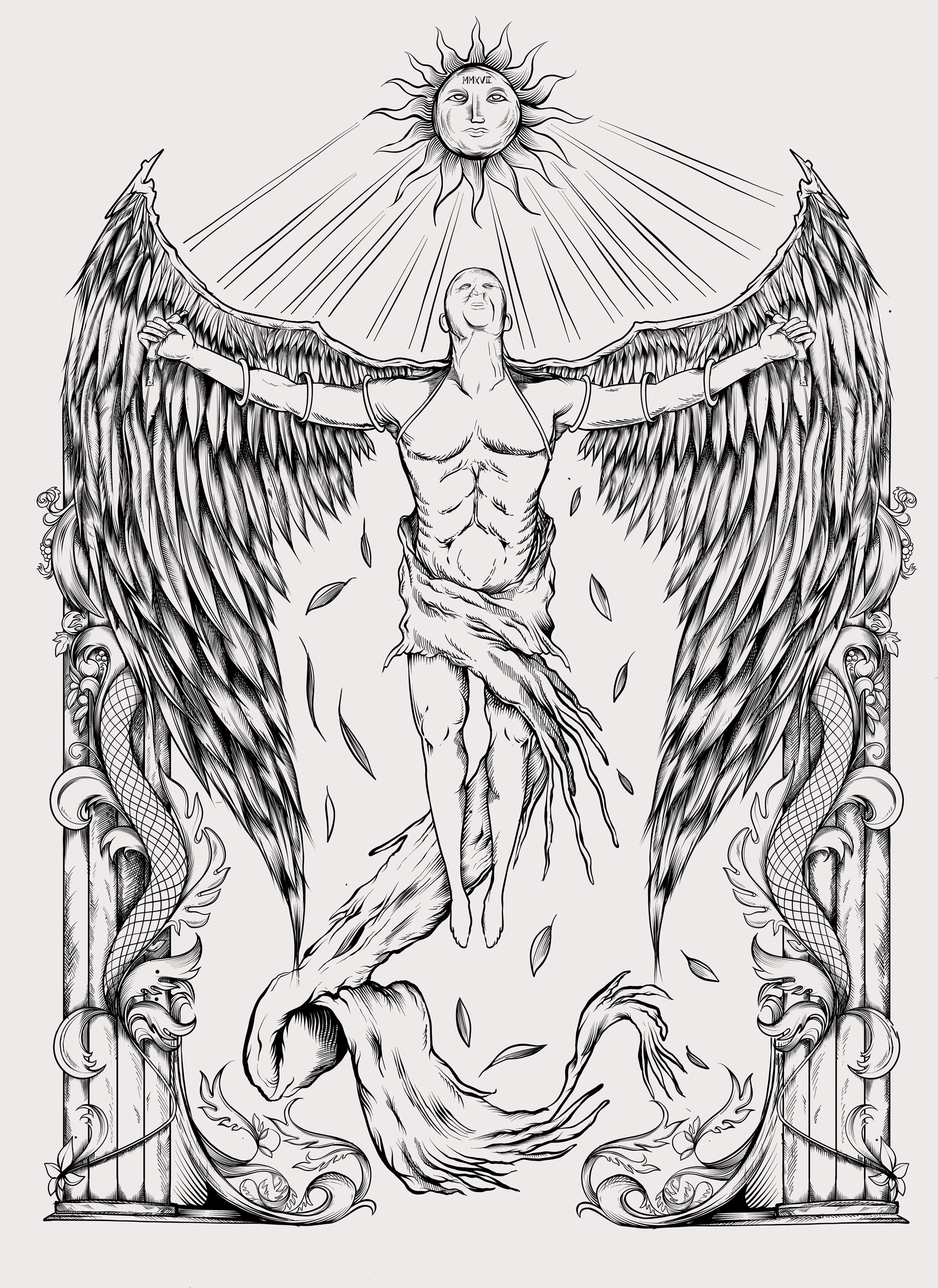 Flying Icarus x Iqarus brand - designed by Giovanni Tamponi illustrations