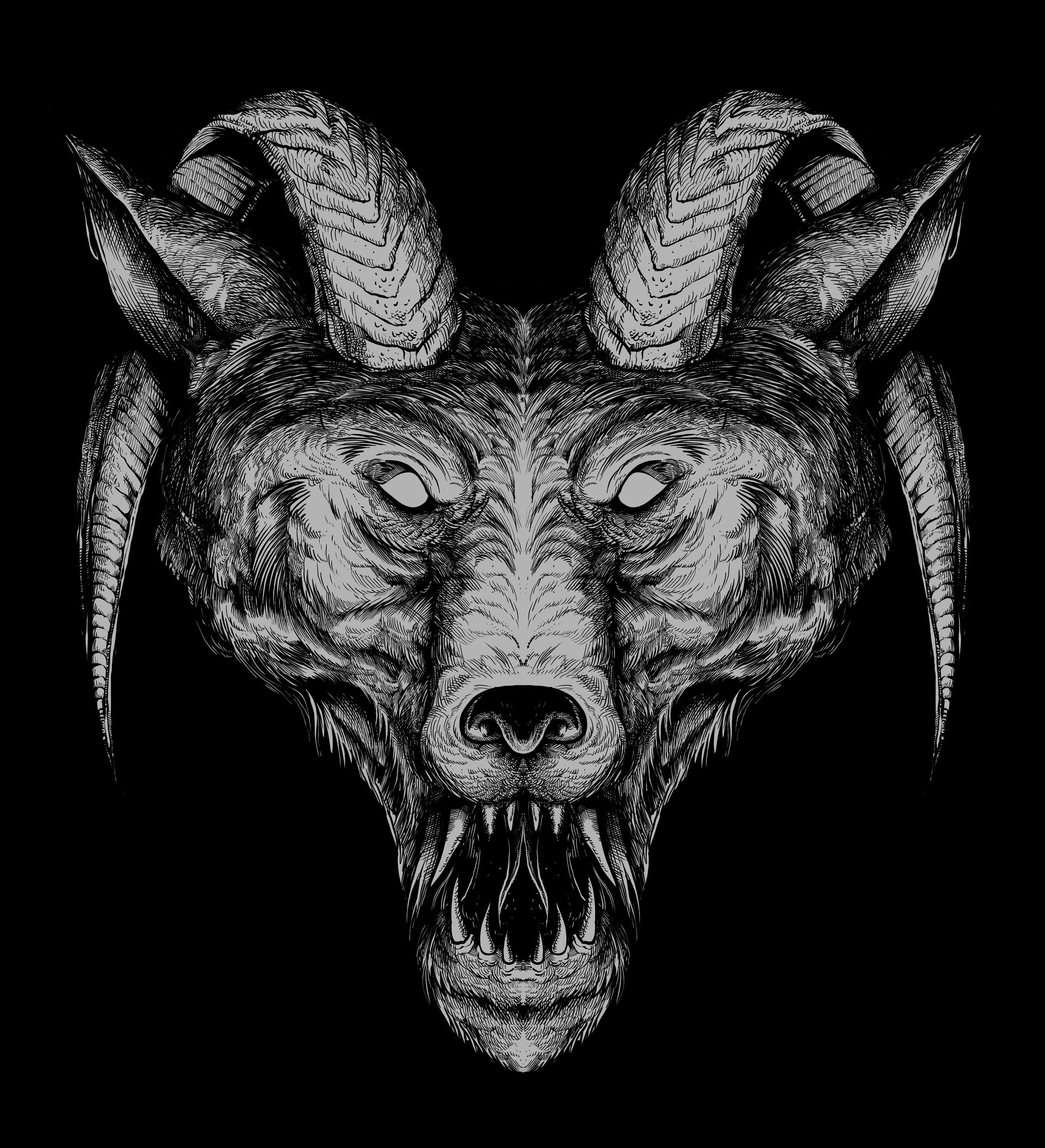 Satan wolf - designed by Giovanni Tamponi illustrations