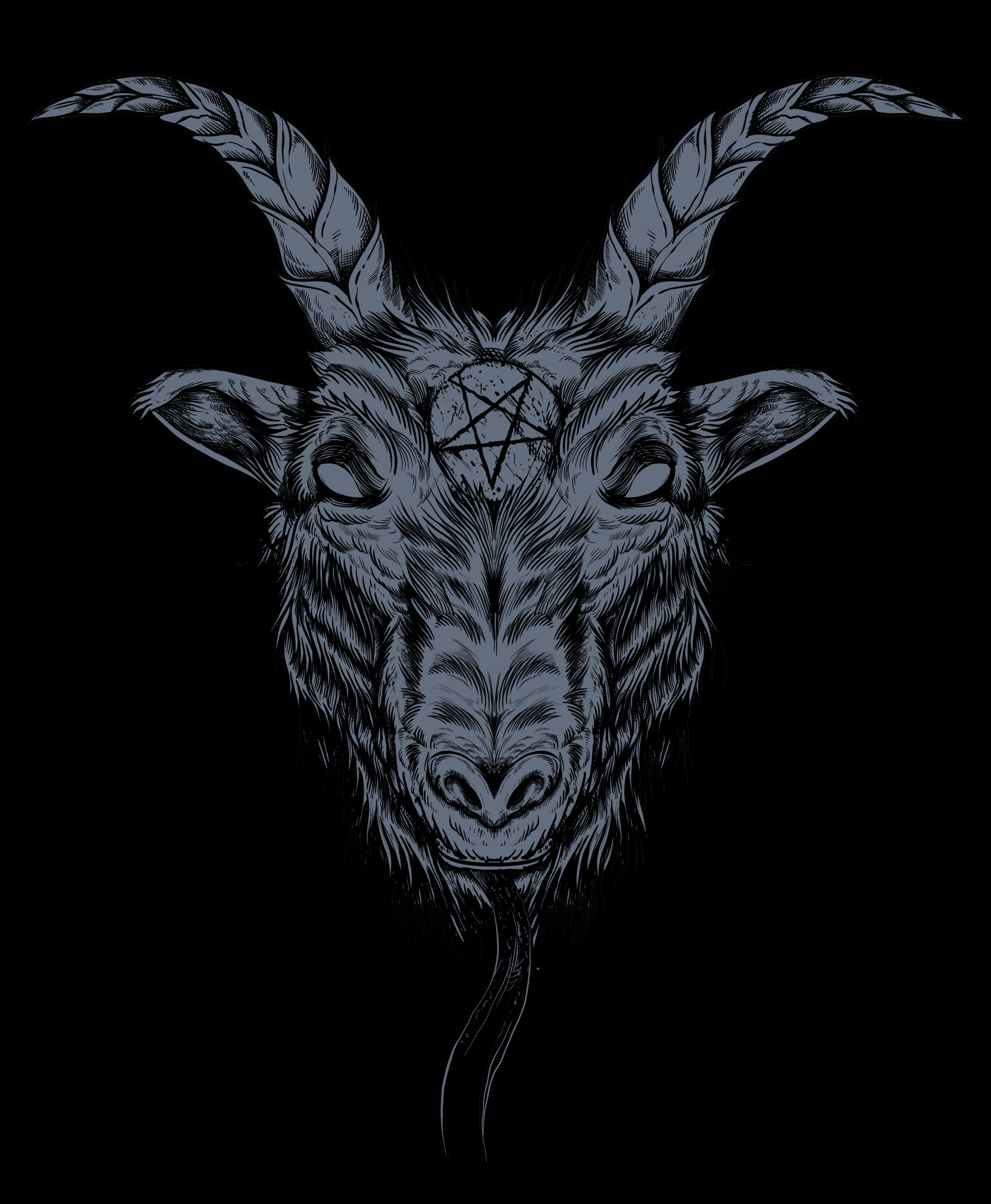 satan Goat - designed by Giovanni Tamponi illustrations