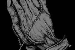 Praying Devil Hands - designed by Giovanni Tamponi illustrations