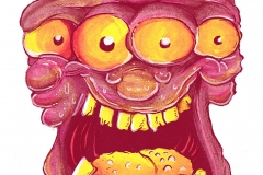 90s monster cartoon artwork by giovanni tamponi illustrations