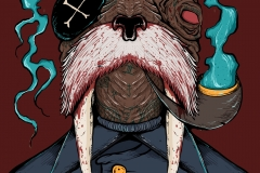 Bloody Captain Walrus - designed by giovanni tamponi illustrations