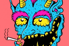 Blue monster - designed by giovanni tamponi illustrations