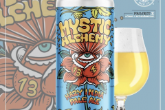 Mystic Alchemy beer can / Mother Earth Brew co -  designed by Joe Tamponi