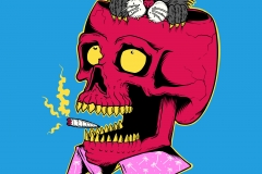 Bidon-drawn-by-Joe-Tamponi-Creepy-Funny-llustrations-inspired-by-punk-rock-surfing-and-skateboarding-world
