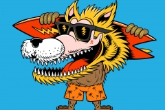 Blonde-Wolf-drawn-by-Joe-Tamponi-Creepy-Funny-llustrations-inspired-by-punk-rock-surfing-and-skateboarding-world