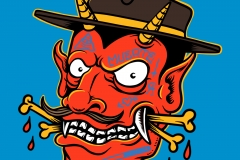 Chicano-Devil-drawn-by-Joe-Tamponi-Creepy-Funny-llustrations-inspired-by-punk-rock-surfing-and-skateboarding-world