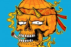 Chicano-drawn-by-Joe-Tamponi-Creepy-Funny-llustrations-inspired-by-punk-rock-surfing-and-skateboarding-world