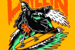 Chillin-Grim-reaper-Surfing-drawn-by-Joe-Tamponi-Creepy-Funny-llustrations-inspired-by-punk-rock-surfing-and-skateboarding-world