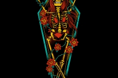 Coffin_Roses-drawn-by-Joe-Tamponi-Creepy-Funny-llustrations-inspired-by-punk-rock-surfing-and-skateboarding-world