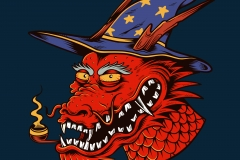 Dragon_Wizard-drawn-by-Joe-Tamponi-Creepy-Funny-llustrations-inspired-by-punk-rock-surfing-and-skateboarding-world