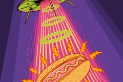 Flying-Saucer-drawn-by-Joe-Tamponi-Creepy-Funny-llustrations-inspired-by-punk-rock-surfing-and-skateboarding-world
