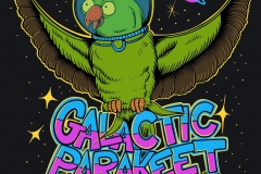 Galactic-Parakeet-drawn-by-Joe-Tamponi-Creepy-Funny-llustrations-inspired-by-punk-rock-surfing-and-skateboarding-world