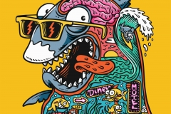 Psychedelic-Shark-designed-by-Joe-Tamponi-Illustrations
