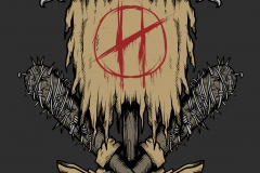 The-Hooplas-logo-drawn-by-Joe-Tamponi-Creepy-Funny-llustrations-inspired-by-punk-rock-surfing-and-skateboarding-world