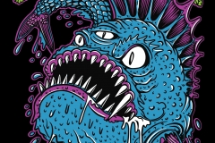 Uk-subs-punk-t-shirt-design-drawn-by-Joe-Tamponi-Creepy-Funny-llustrations-inspired-by-punk-rock-surfing-and-skateboarding-world