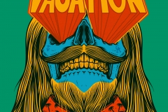 Vacation-drawn-by-Joe-Tamponi-Creepy-Funny-llustrations-inspired-by-punk-rock-surfing-and-skateboarding-world