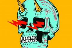 Zapp-Skull-drawn-by-Joe-Tamponi-Creepy-Funny-llustrations-inspired-by-punk-rock-surfing-and-skateboarding-world