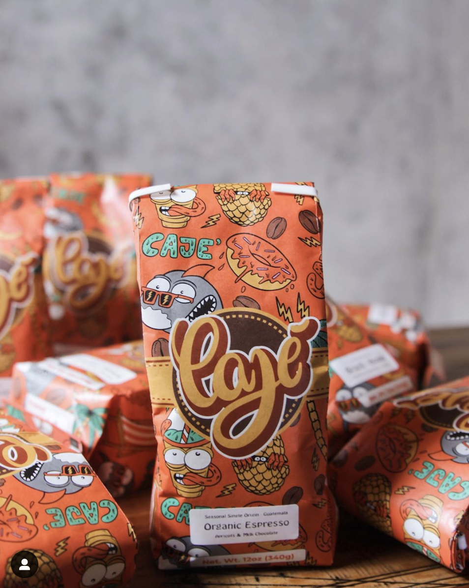Illustrated coffee bag - illustration & packaging design by Joe Tamponi